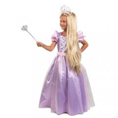 Πριγκίπισσα αποκριάτικη στολή κοριτσιών σε μοβ χρώμα