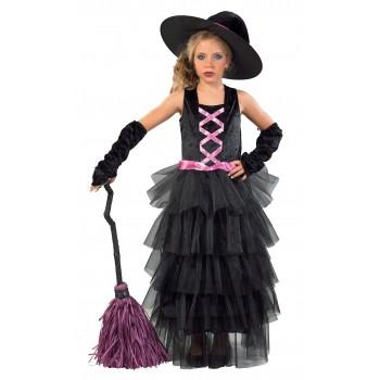 Αποκριάτικη παιδική στολή μάγισσα (deluxe)