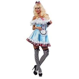 Αλίκη αποκριάτικη στολή με κοντό φόρεμα 9a2672f815f