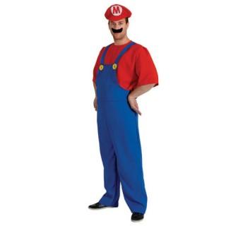 Supermario αποκριάτικη στολή υδραυλικού για ενήλικες