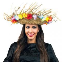 Καπέλο Χαβανέζικο με λουλούδια