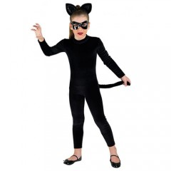 Γάτα- πανθηρας στολή για κορίτσια με ολόσωμη φόρμα