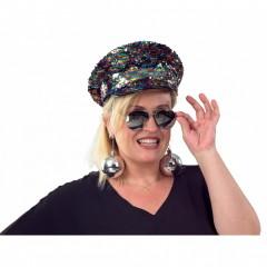 Καπέλο  με πούλιες πολύχρωμο