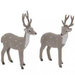 Ελαφάκια γκρι με βούλες 37cm διακοσμητικά σε δύο σχέδια