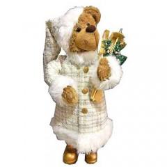 Αρκουδάκι μπεζ 70cm με παγοπέδιλα