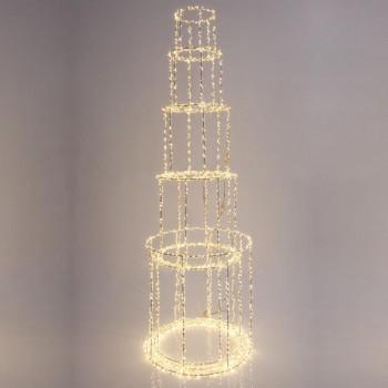 Πύργος φωτιζόμενος, 4350 θερμά led, με μετασχηματιστή, χαλκού, 163x40cm