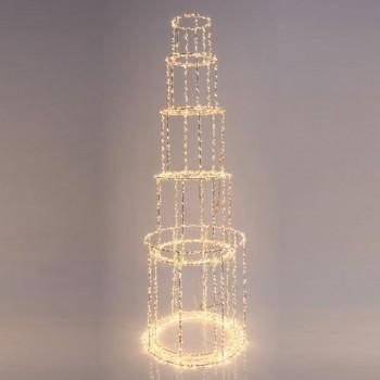 Πύργος φωτιζόμενος, 1310 θερμά led, με μετασχηματιστή, χαλκού, 60x25cm