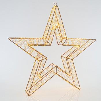 Αστέρι φωτιζόμενο 70cm χαλκού 2400 θερμά LED με μετασχηματιστή IP44