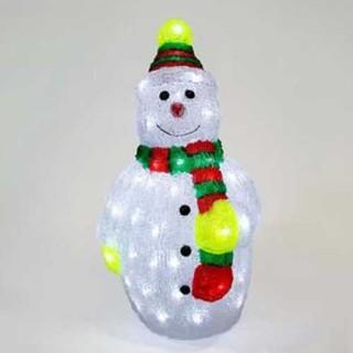 Χιονάνθρωπος ακρυλικός με Led 3D φωτισμό 51cm