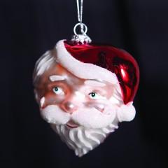 Άγιος Βασίλης γυάλινο διακοσμητικό διαστάσεων 10cm