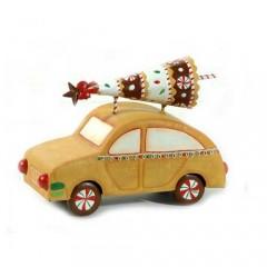 Διακοσμητικό Μεταλλικό αυτοκίνητο 19cm φορτωμένο με δέντρο