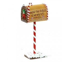 Διακοσμητικό μεταλλικό Γραμματοκιβώτιο 35cm north pole mail