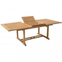 Apollon Τραπέζι παραλληλόγραμμο και επέκταση απο ξύλο teak