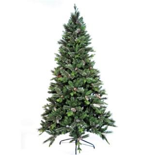 Δέντρο Genova 210cm πράσινο με πευκοβελόνα και κουκουνάρι